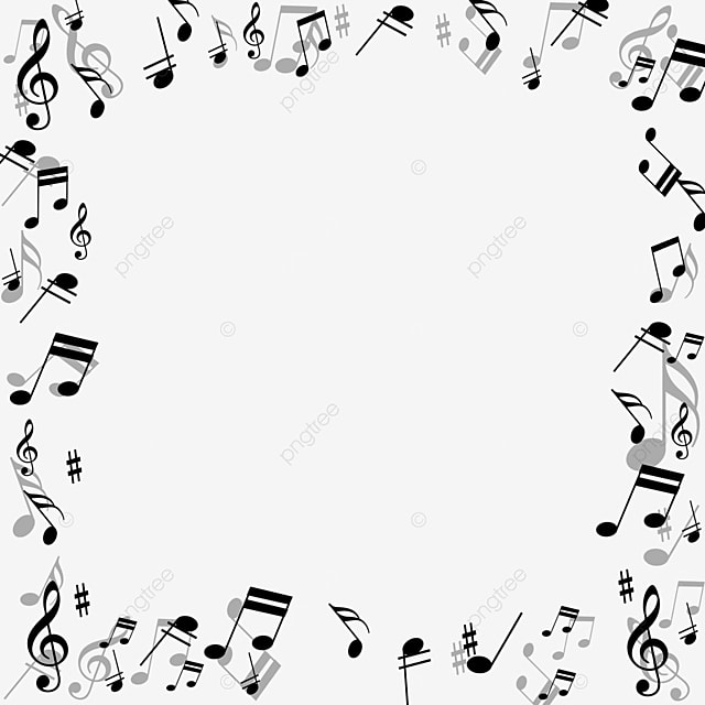 creative music note black border