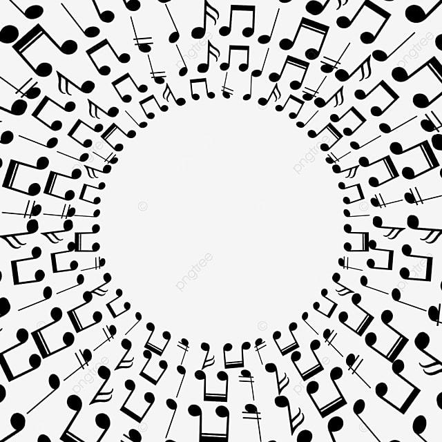 creative music notes round border
