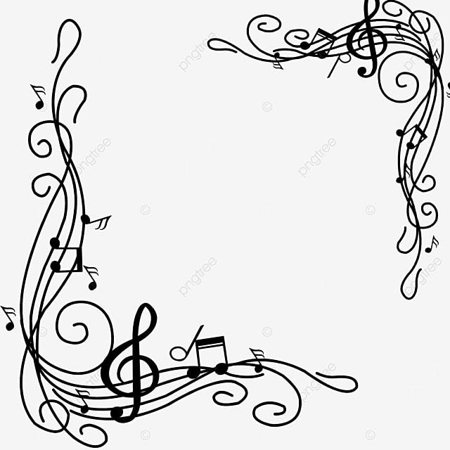 creative music pattern musical note border