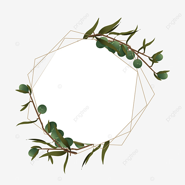 creative olive branch border