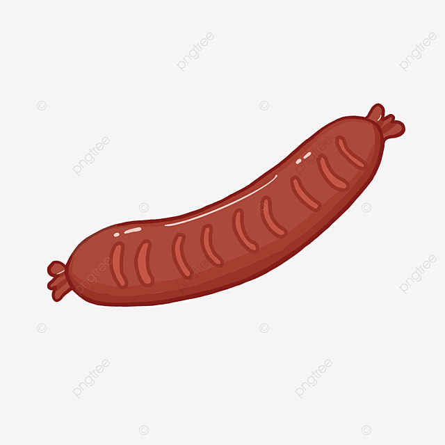 crooked sausage clipart