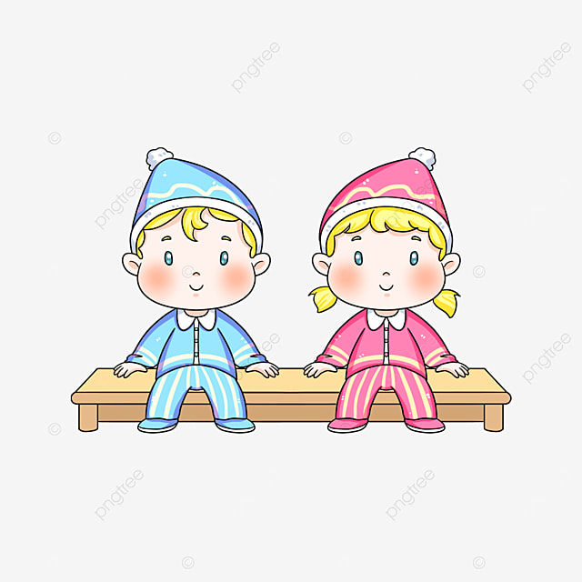 cute baby twins clipart