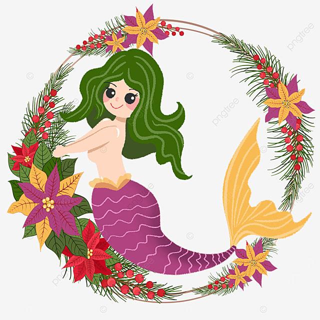 cute purple mermaid wreath