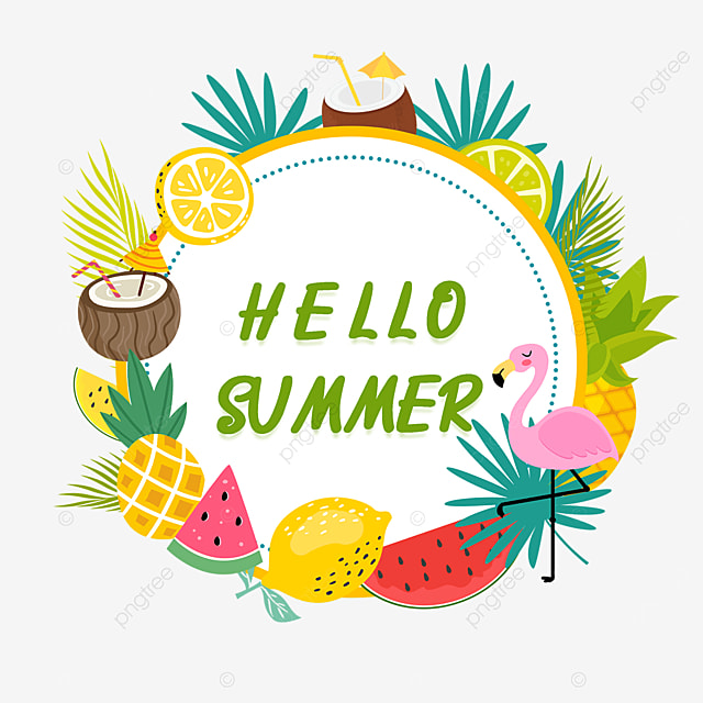 cute summer fruit border