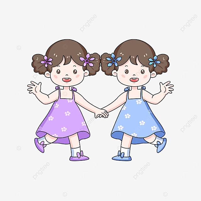 cute twins clipart