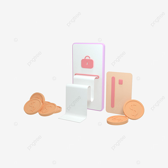 3d rendering payment via credit card concept secure online payment transaction using smartphone
