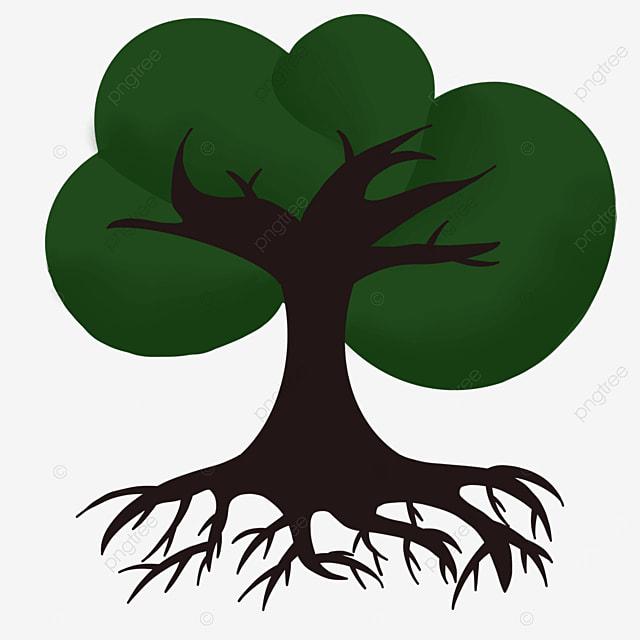 dark cross tree root clip art