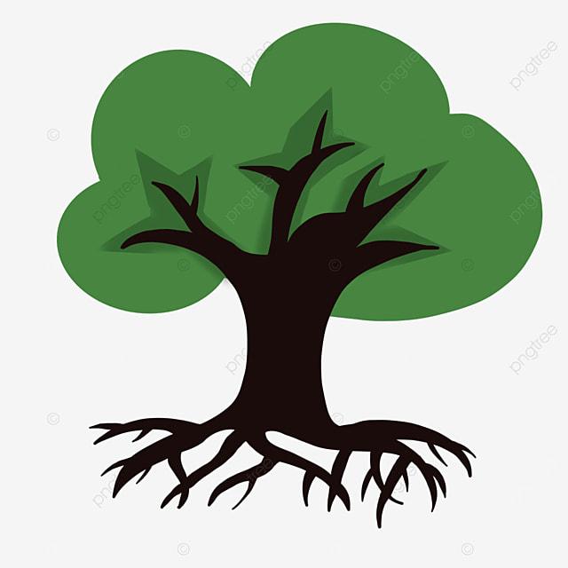 dark green tree roots clip art