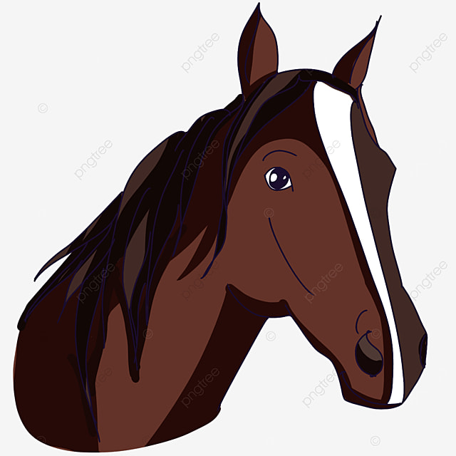 dark horse head clip art