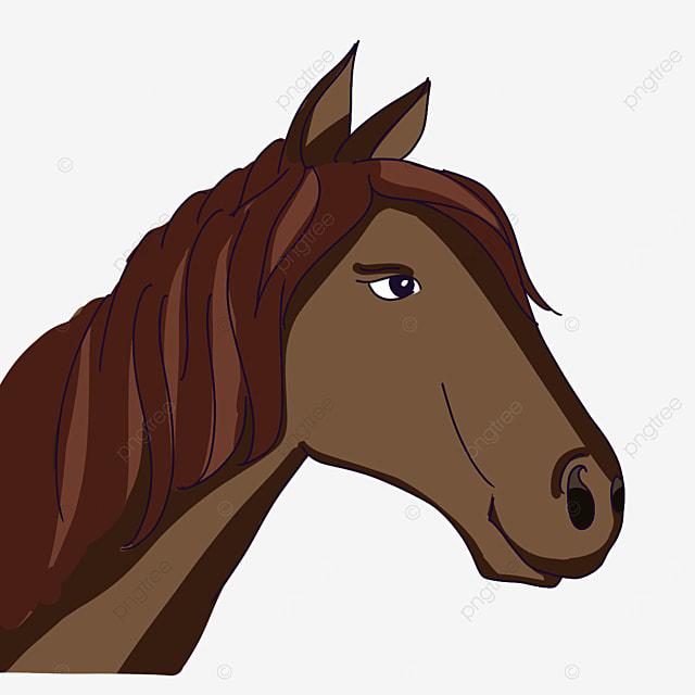 dark horse head clipart