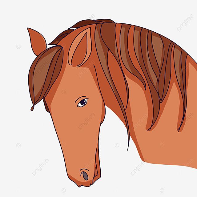 depressed horse head clip art