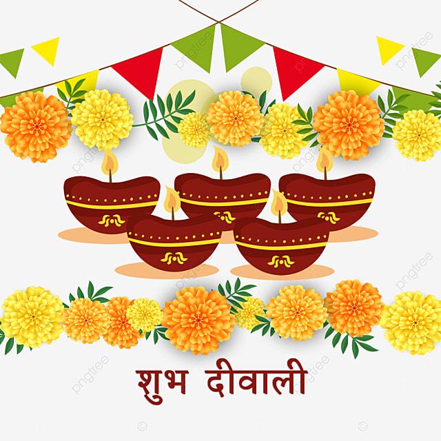 diwali marigold bunting border