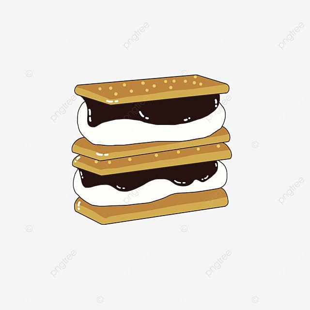 double graham cookies clip art