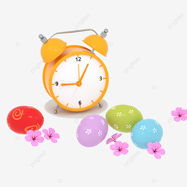 easter egg simple fashion creative clock clock