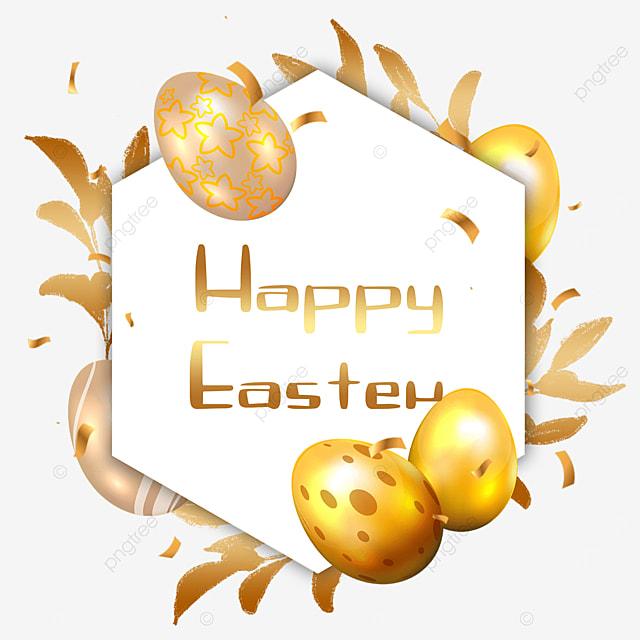 easter golden egg border blessing golden