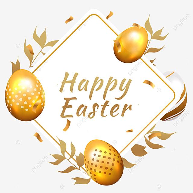 easter golden egg border blessing