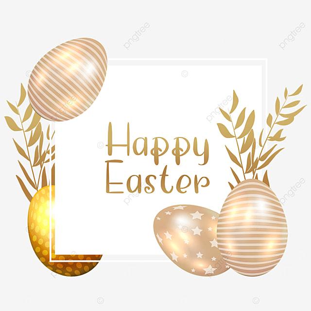 easter golden egg border celebration