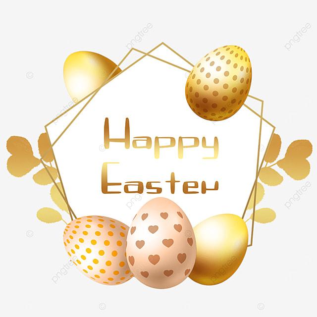 easter golden egg border christian holiday