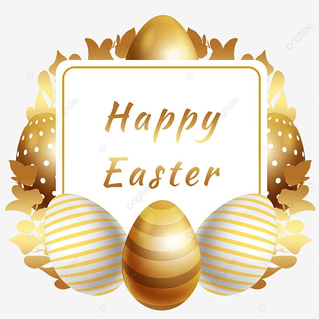easter golden egg border decoration