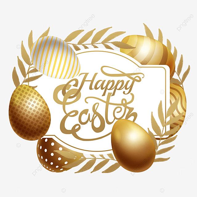 easter golden egg border golden celebration