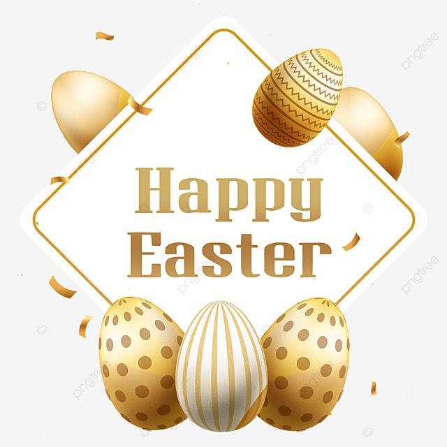 easter golden egg border holiday