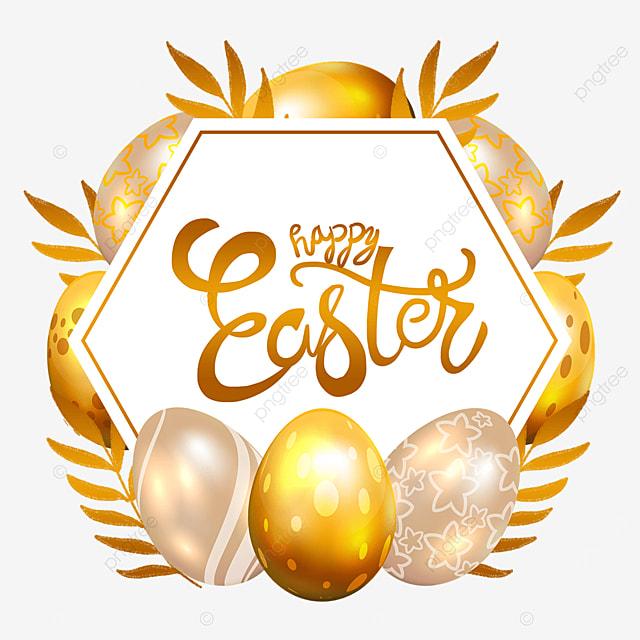 easter golden egg border wishes holiday