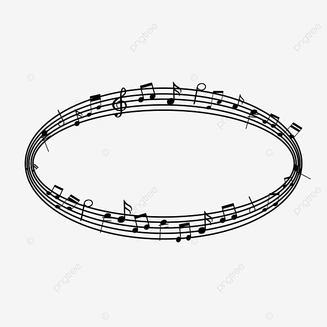 ellipse creative music note border