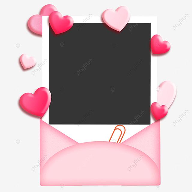 envelope photo paper border pink sweet