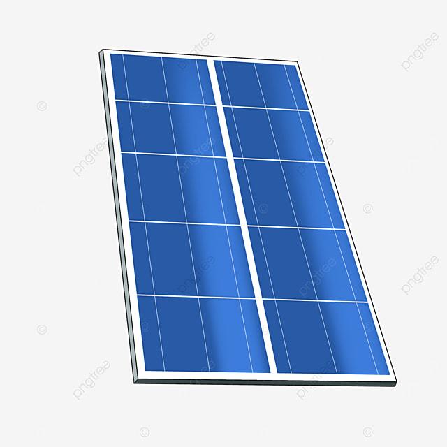 erected solar panel clipart