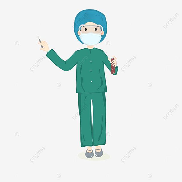 female surgeon at work clipart