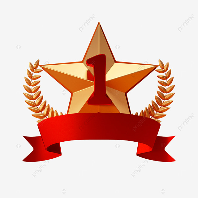 five pointed star ranking first