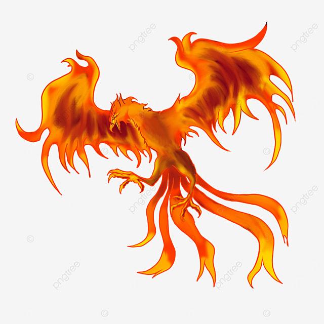 flame winged phoenix clip art