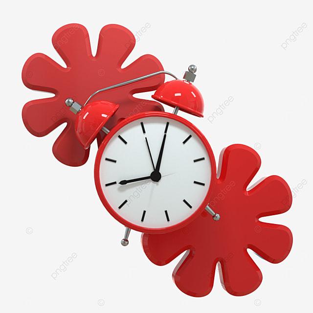 flowers simple fashion creative clock clock