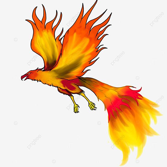 flying flame phoenix clip art