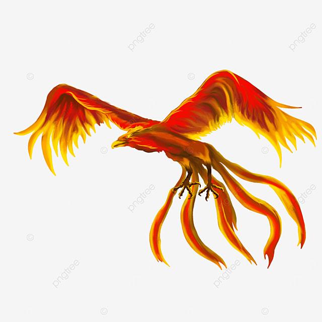 flying phoenix clip art
