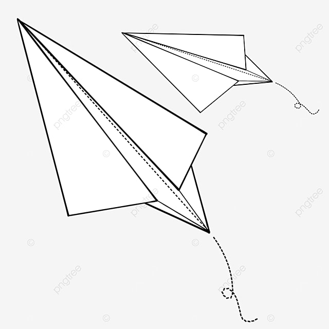 flying white paper airplane clipart
