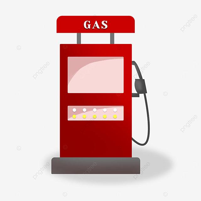 gas station clipart cartoon style