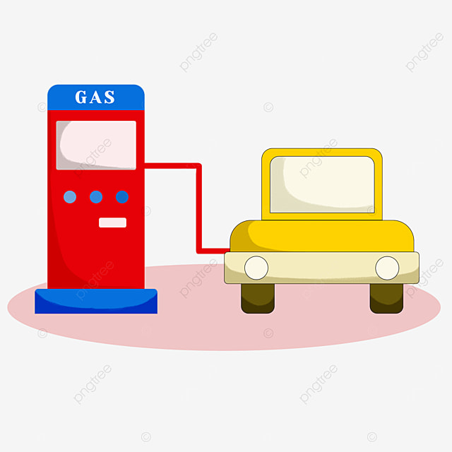 gas station clipart cute style