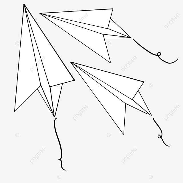 gathered paper airplanes clipart