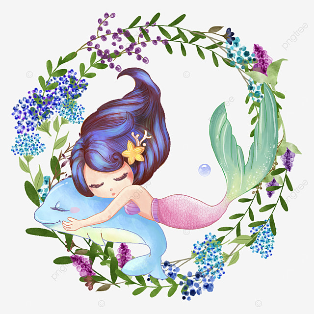 gentle mermaid blue wreath