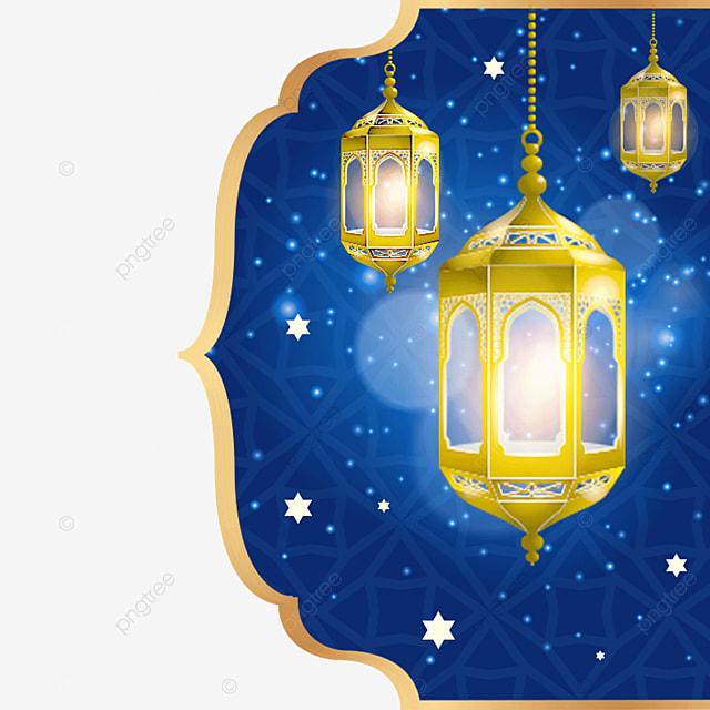 glowing chandelier decorates the exquisite border of eid mubarak