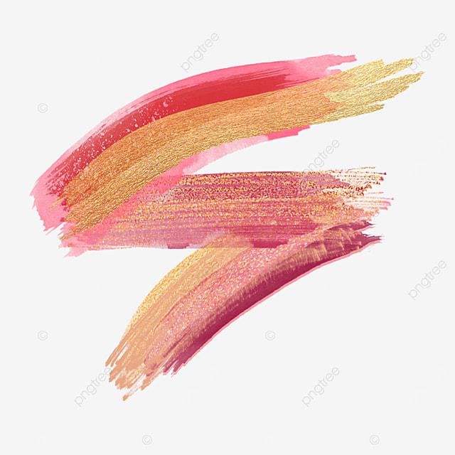 golden grainy blending gold pink brush