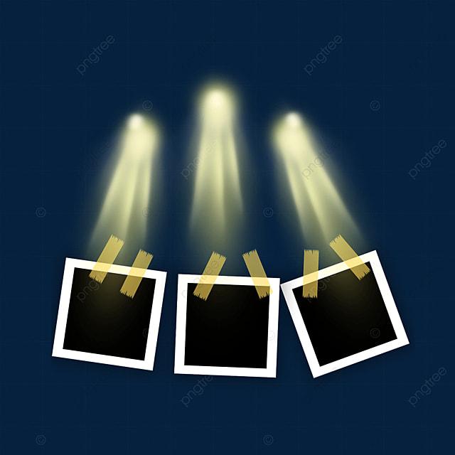 golden spotlight photo frame