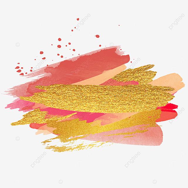 golden texture golden pink brush