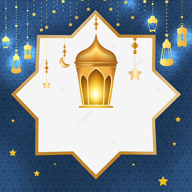 golden traditional pattern eid mubarak exquisite border