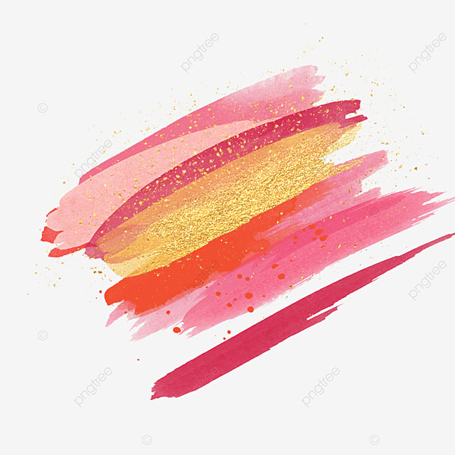 gradient red gold pink brush