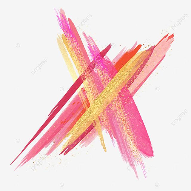 grainy golden pink brush effect