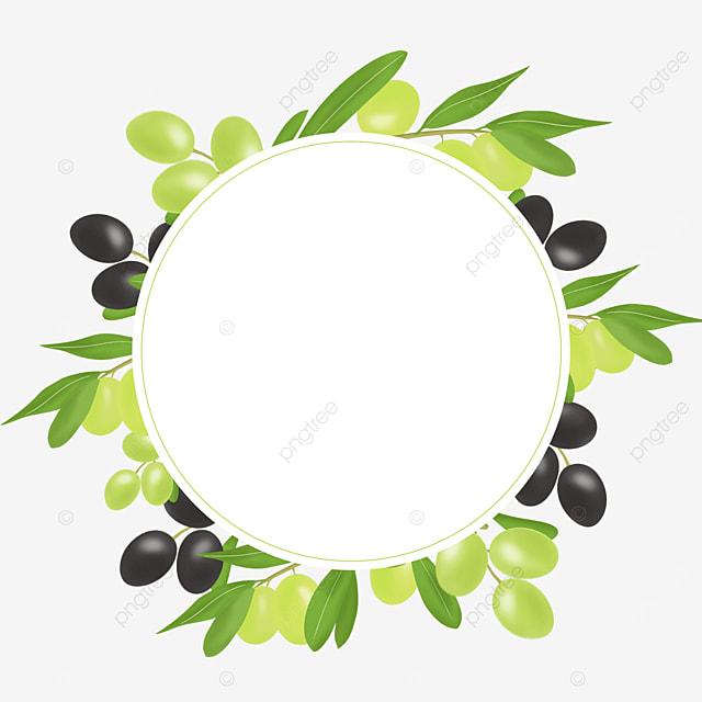green black olive creative border