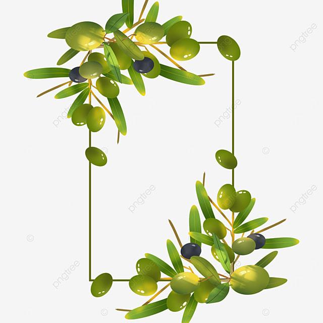 green geometric creative olive border