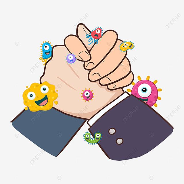 handshake new coronavirus gesture business